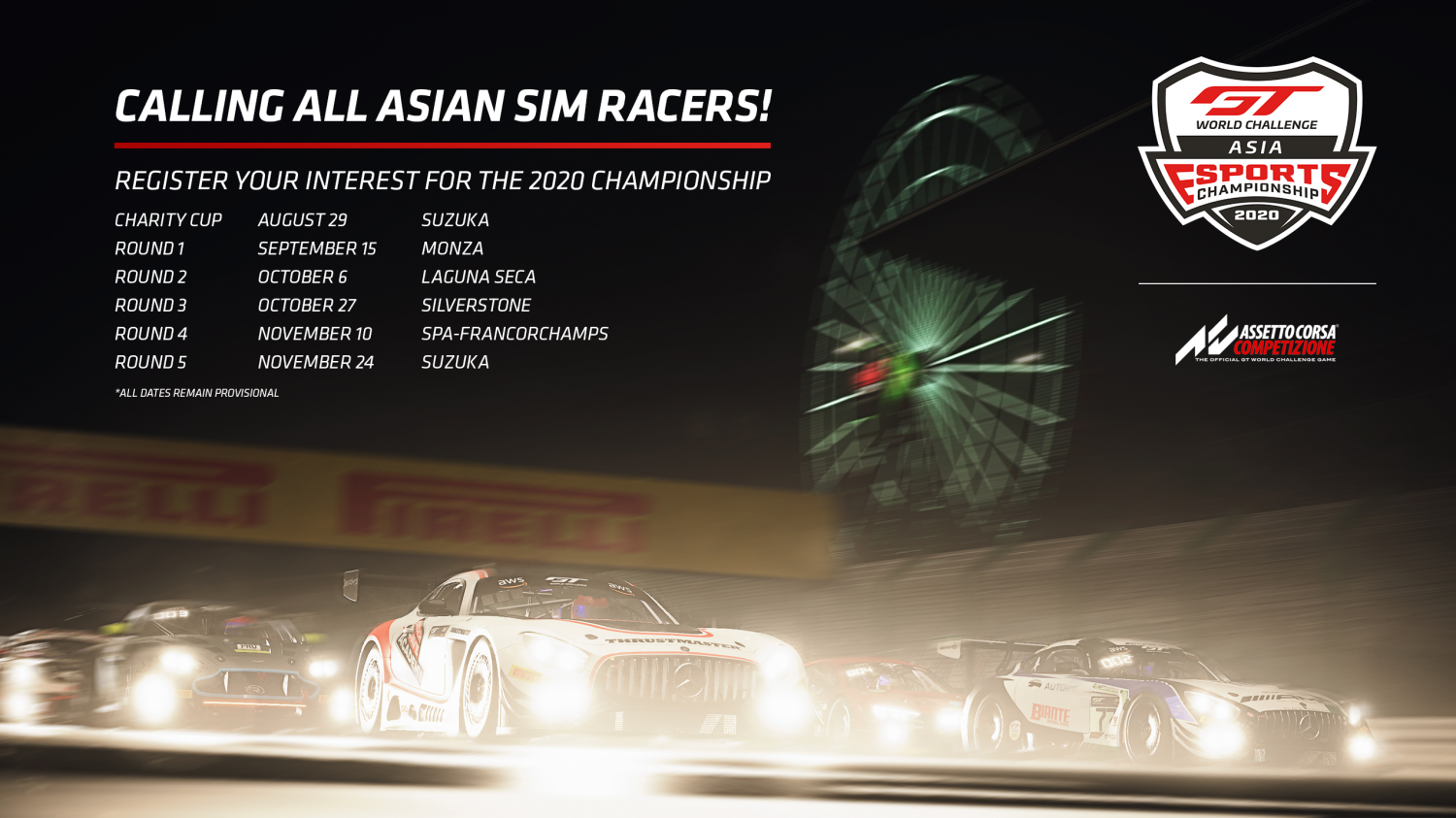 SRO launches GT World Challenge Asia Esports Championship