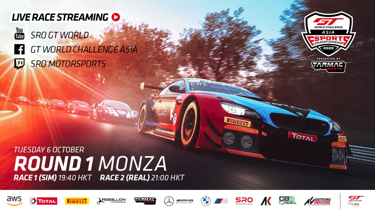 Ready Player 1: GT World Challenge Asia Esports Championship gears up for inaugural season at Monza